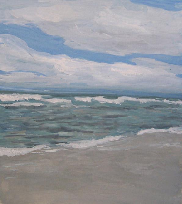 Sturm an der Ostsee, gemalt