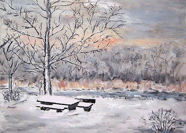 Winter, gemalt