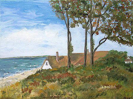 Ahrenshoop. Haus an der Steilküste, gemalt