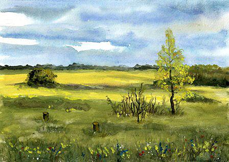 Frühling im Recknitztal, gemalt