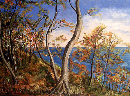 Herbst auf Rügen, gemalt
