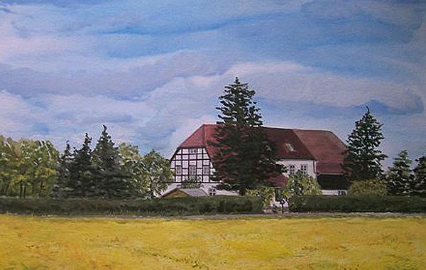 Bauernhof, gemalt