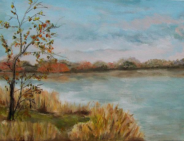 Bernsteinsee bei Ribnitz-Damgarten, gemalt