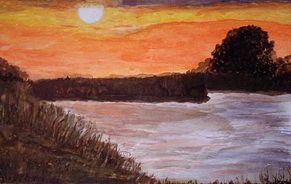 Herbst am Bodden, gemalt