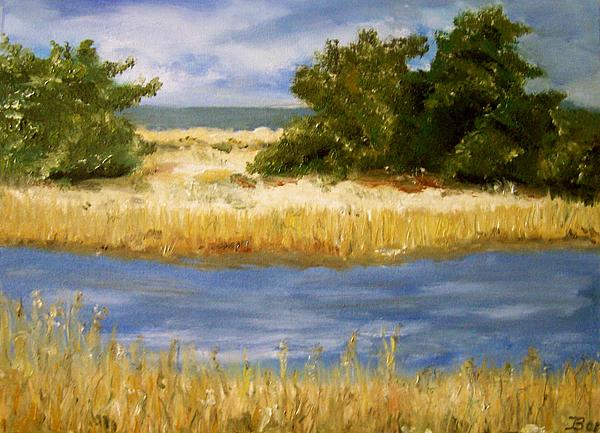 Boddenwiese, gemalt