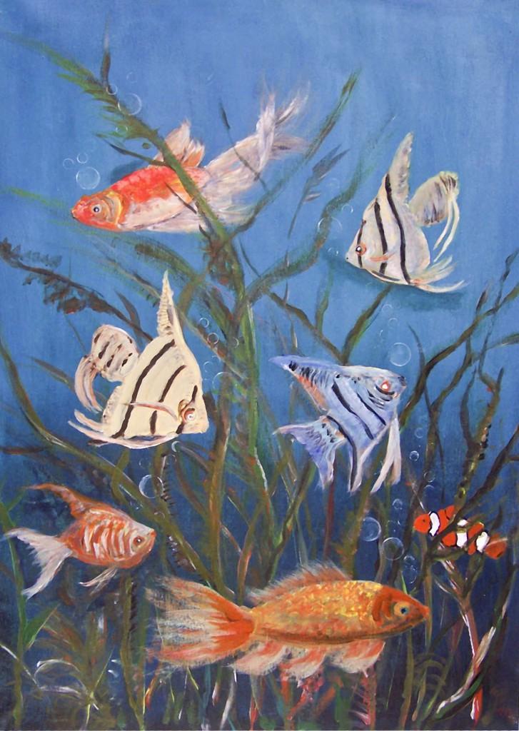 Fantasie-Fische, gemalt von Inge-Lore Bertow