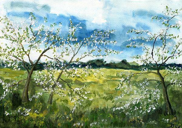 Frühling, gemalt