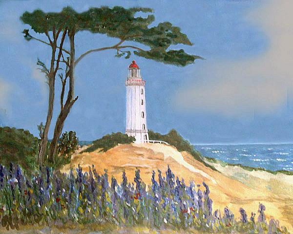 Leuchtturm auf Hiddensee, gemalt