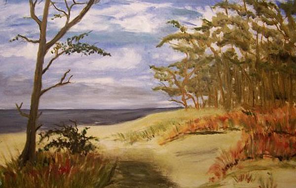Herbst an der Ostseeküste, gemalt