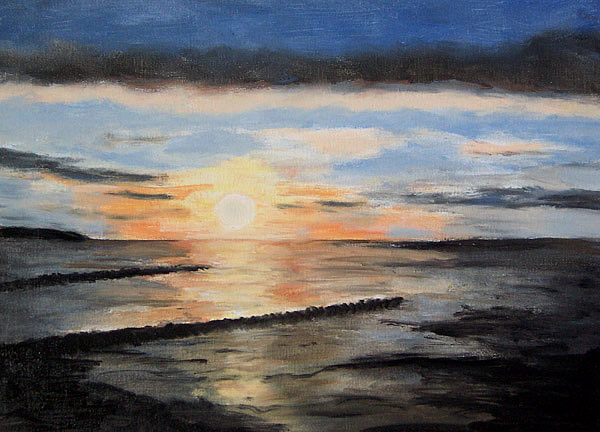 Sonnenuntergang an der Ostsee, gemalt