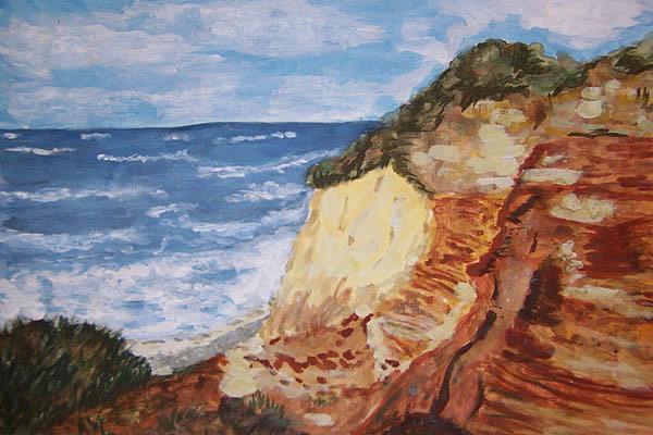 Steilküste Wustrow, gemalt