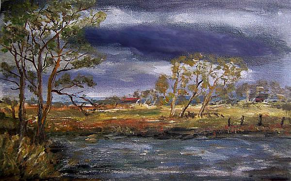 Sumpflandschaft, gemalt