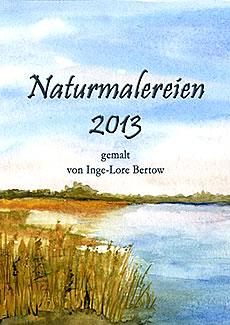 Titelbild Kalender 2013: Boddenlandschaft, Aquarell.